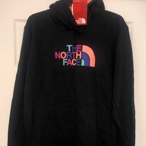 NWT 2X North Face black pullover hoodie sweatshirt